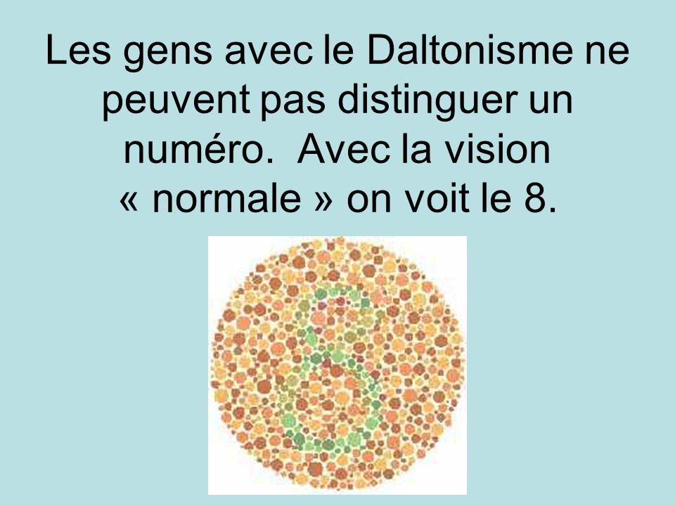 Les gens avec le Daltonisme ne peuvent pas distinguer un numéro