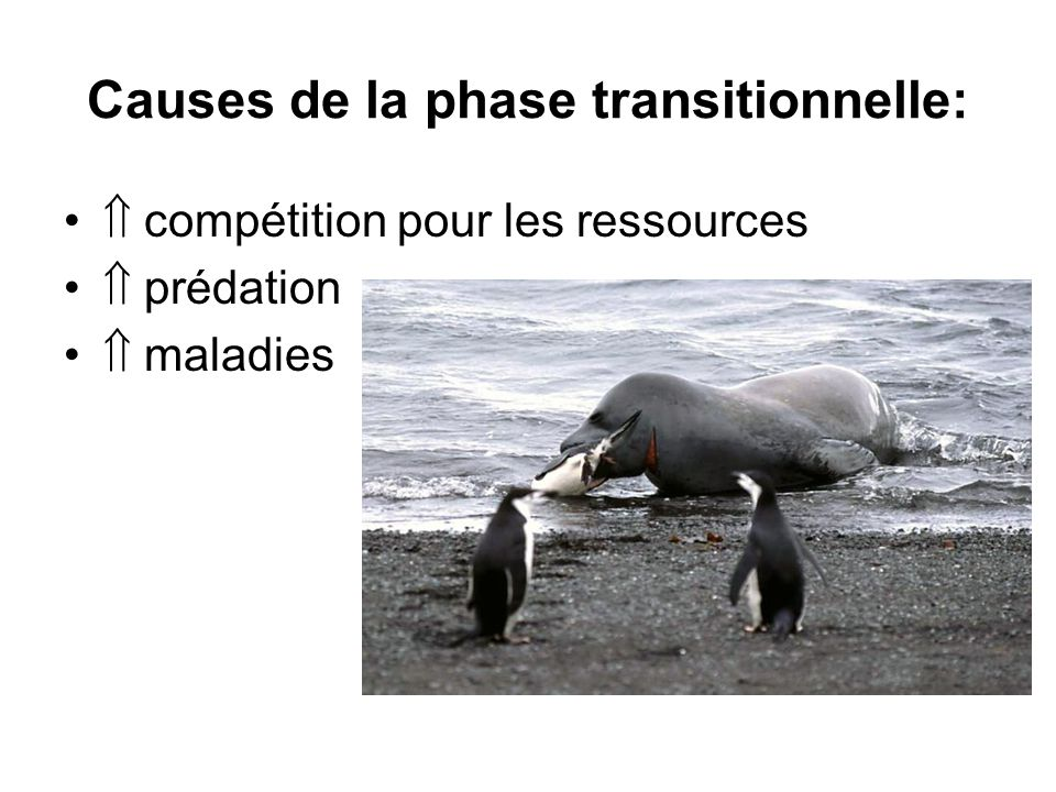 Causes de la phase transitionnelle: