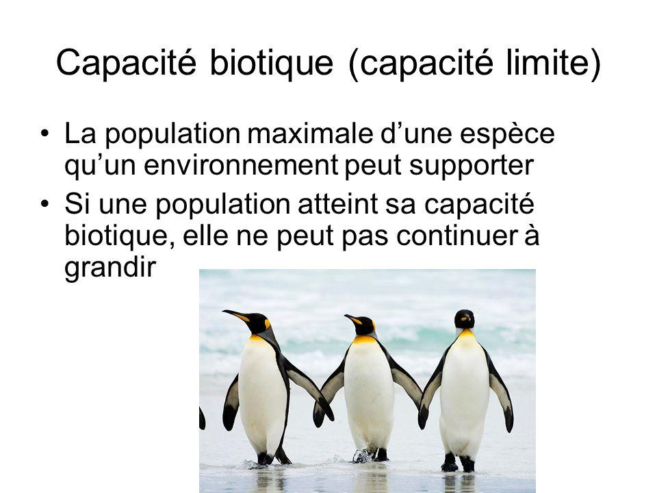 Capacité biotique (capacité limite)