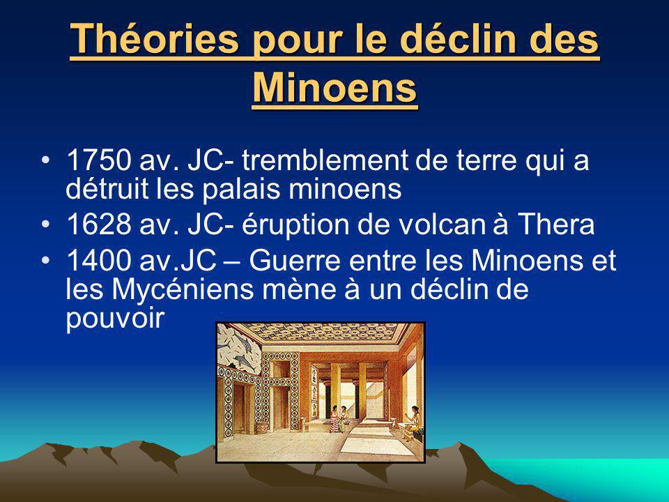Théories pour le déclin des Minoens