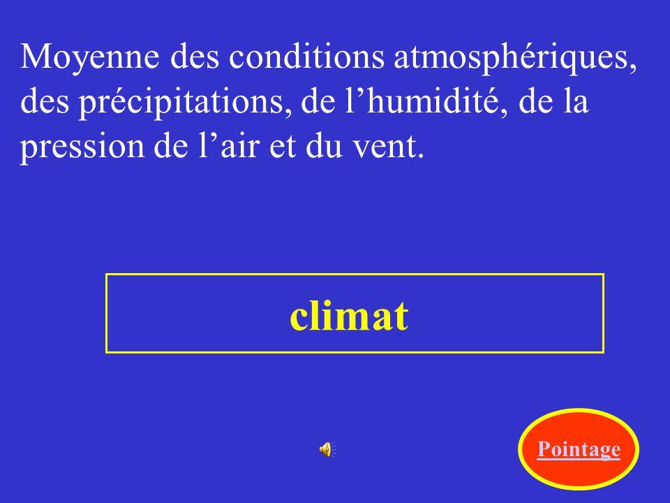 climat Moyenne des conditions atmosphériques,