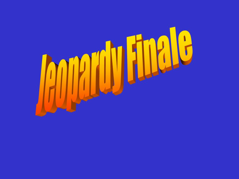 Jeopardy Finale