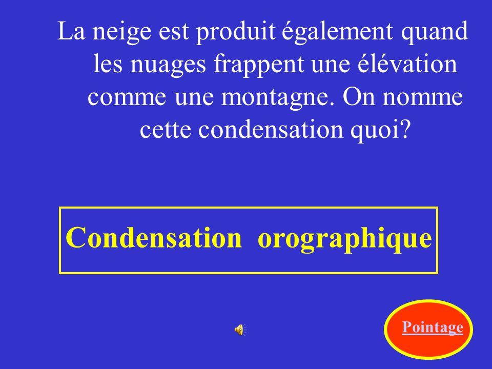 Condensation orographique