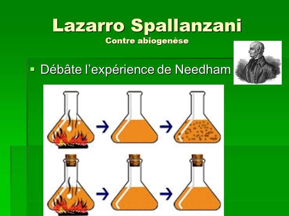 Lazarro Spallanzani Contre abiogenèse