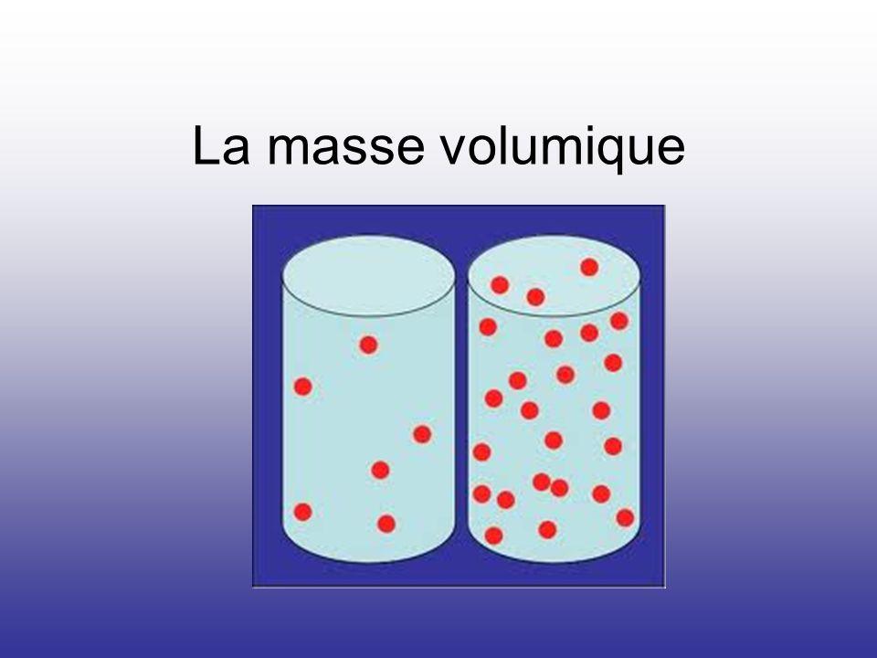 La masse volumique