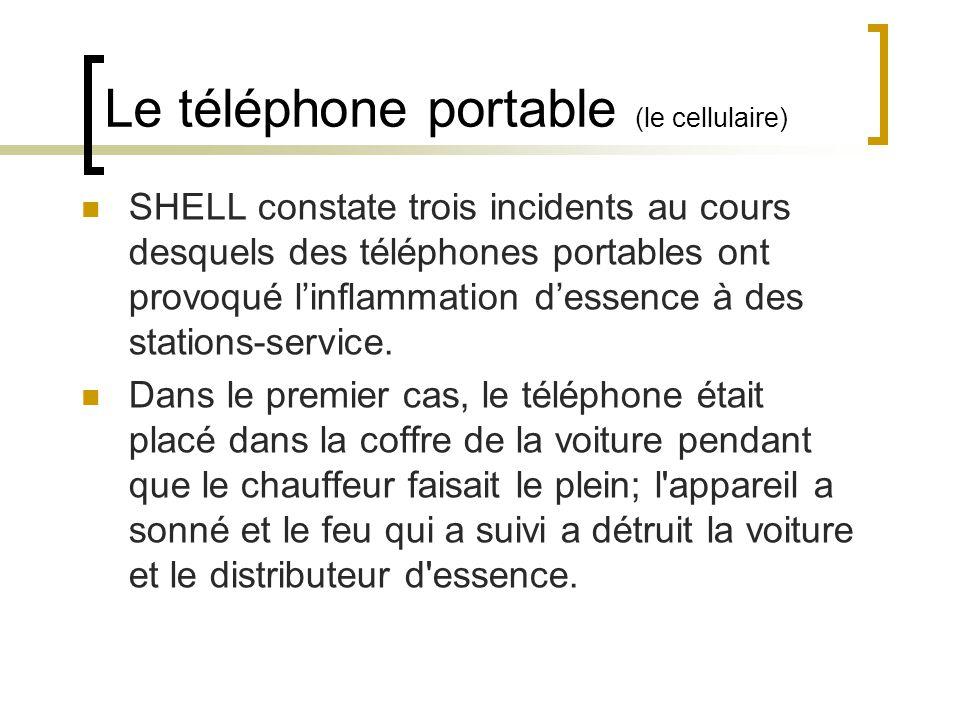 Le téléphone portable (le cellulaire)