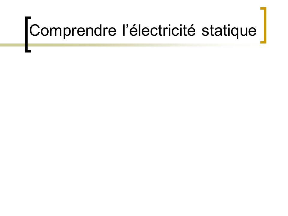 Comprendre l'électricité statique
