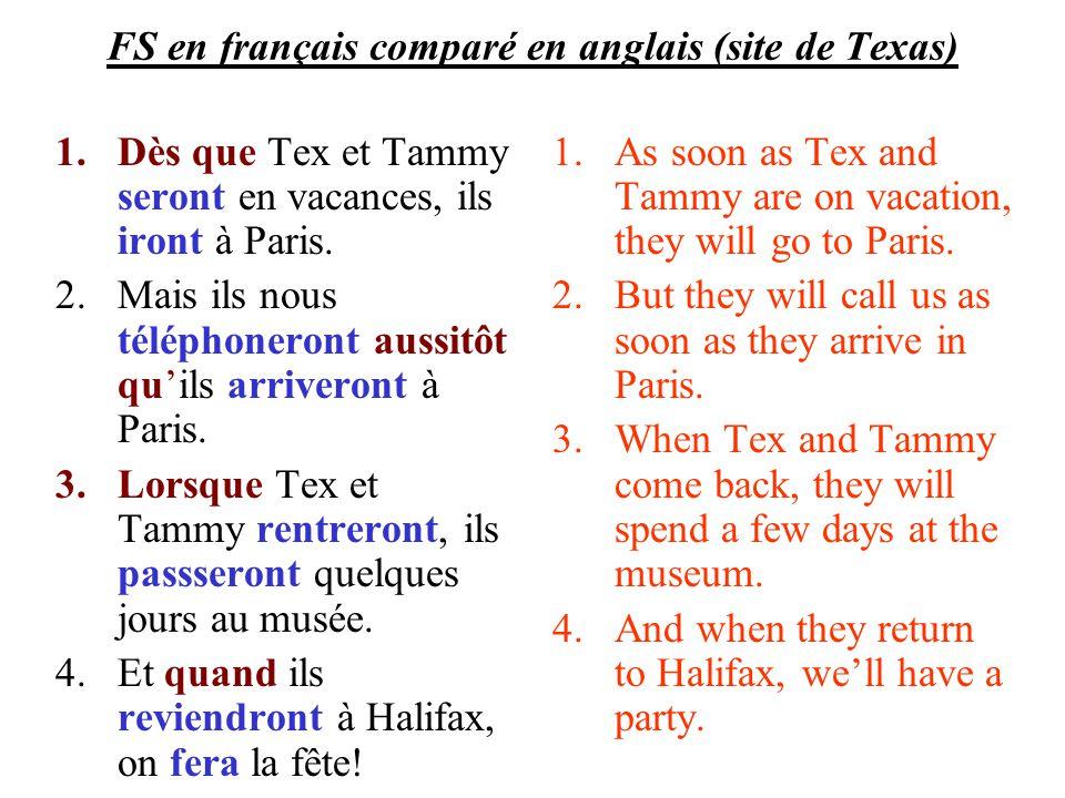 FS en français comparé en anglais (site de Texas)