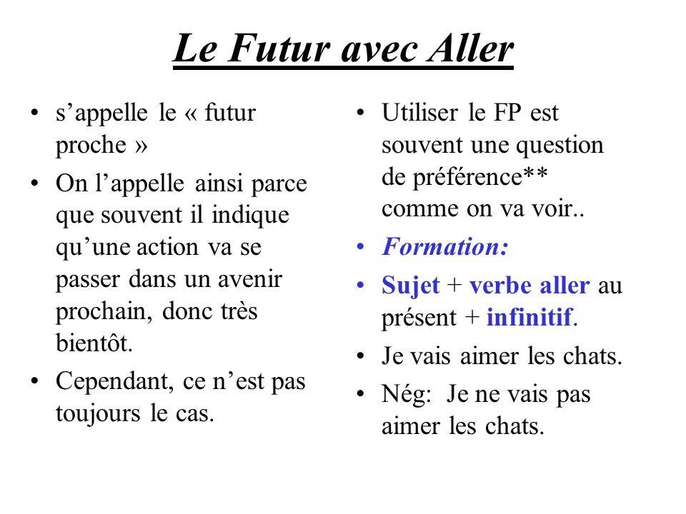 Le Futur avec Aller s'appelle le « futur proche »