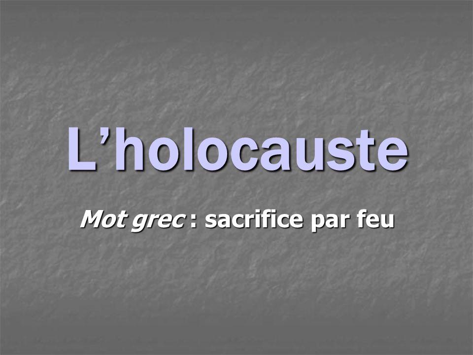Mot grec : sacrifice par feu
