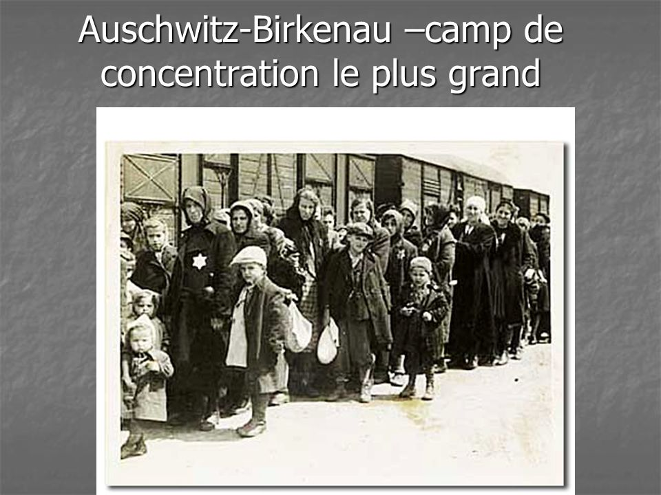 Auschwitz-Birkenau –camp de concentration le plus grand