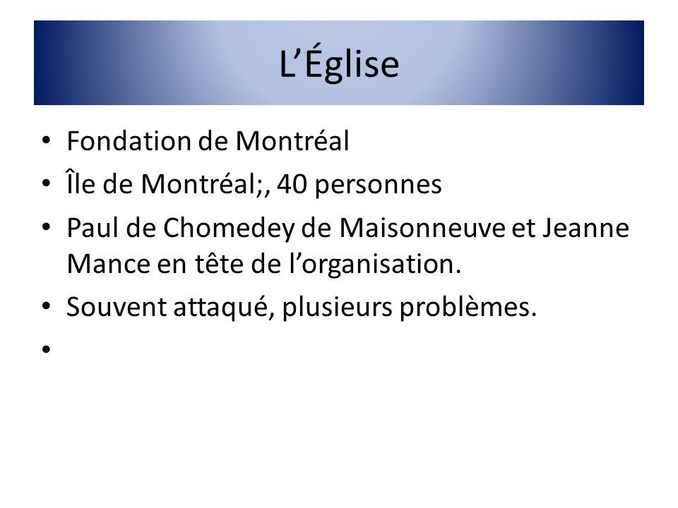 L'Église Fondation de Montréal Île de Montréal;, 40 personnes