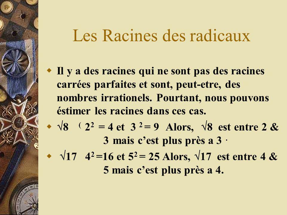 Les Racines des radicaux