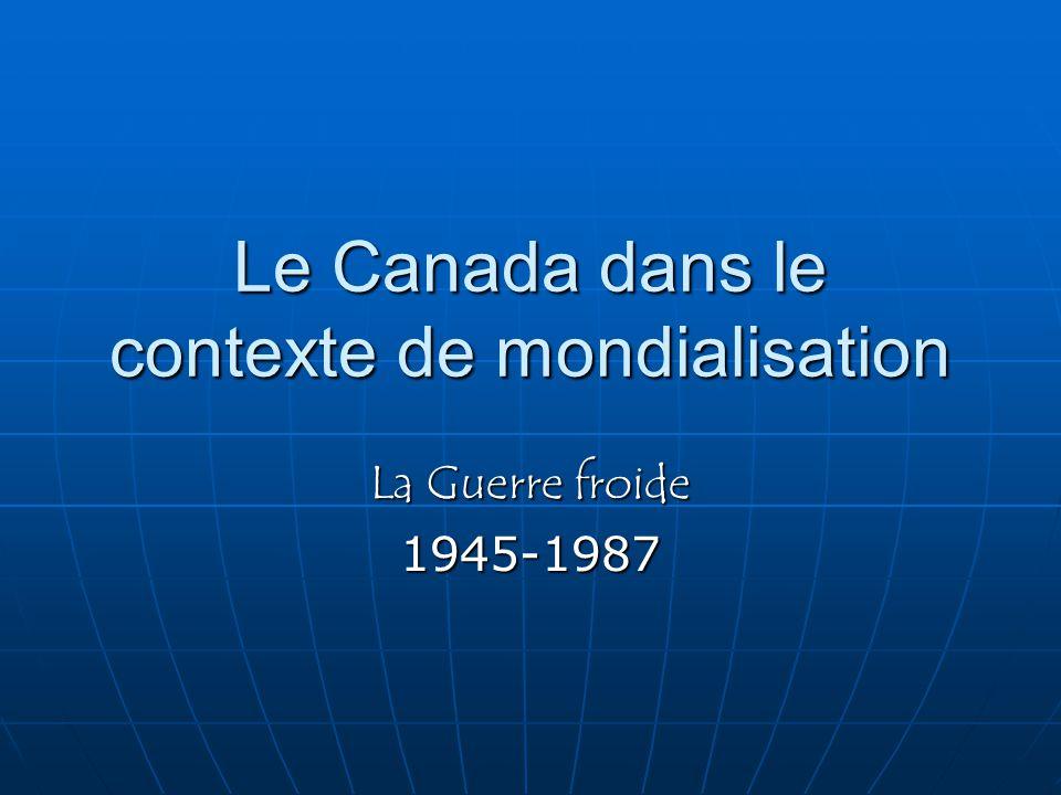 Le Canada dans le contexte de mondialisation