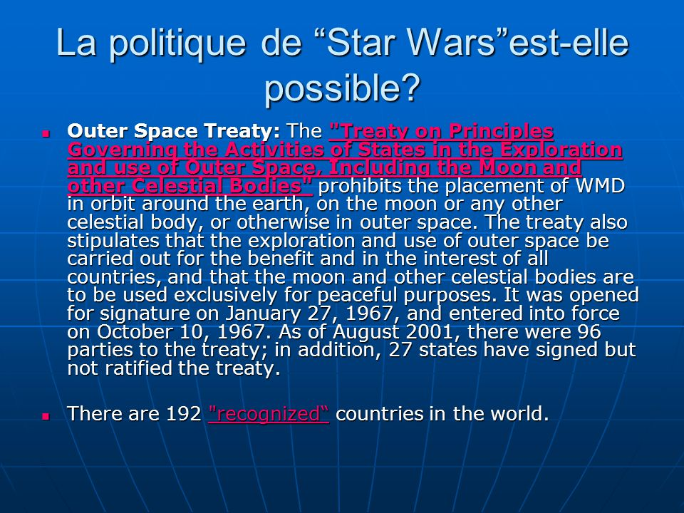 La politique de Star Wars est-elle possible