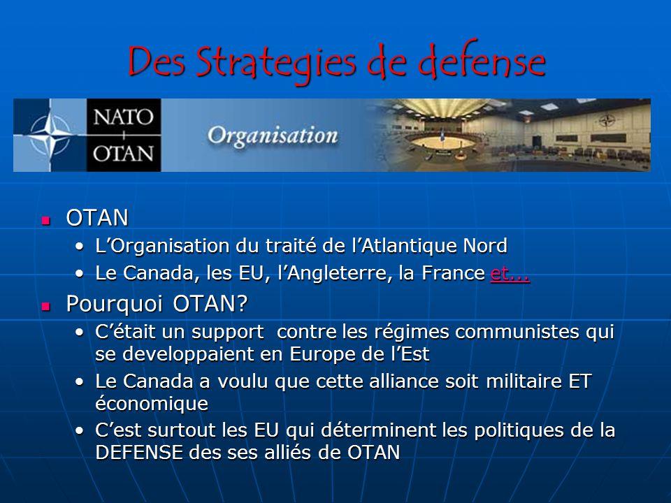 Des Strategies de defense