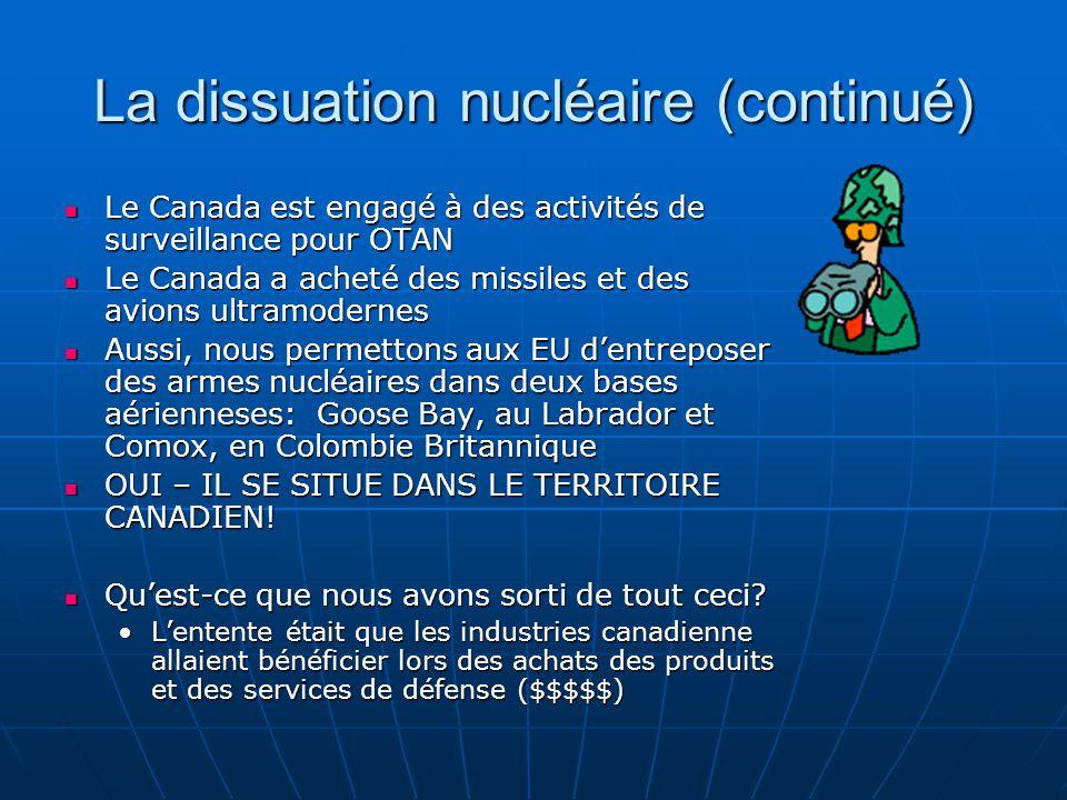 La dissuation nucléaire (continué)