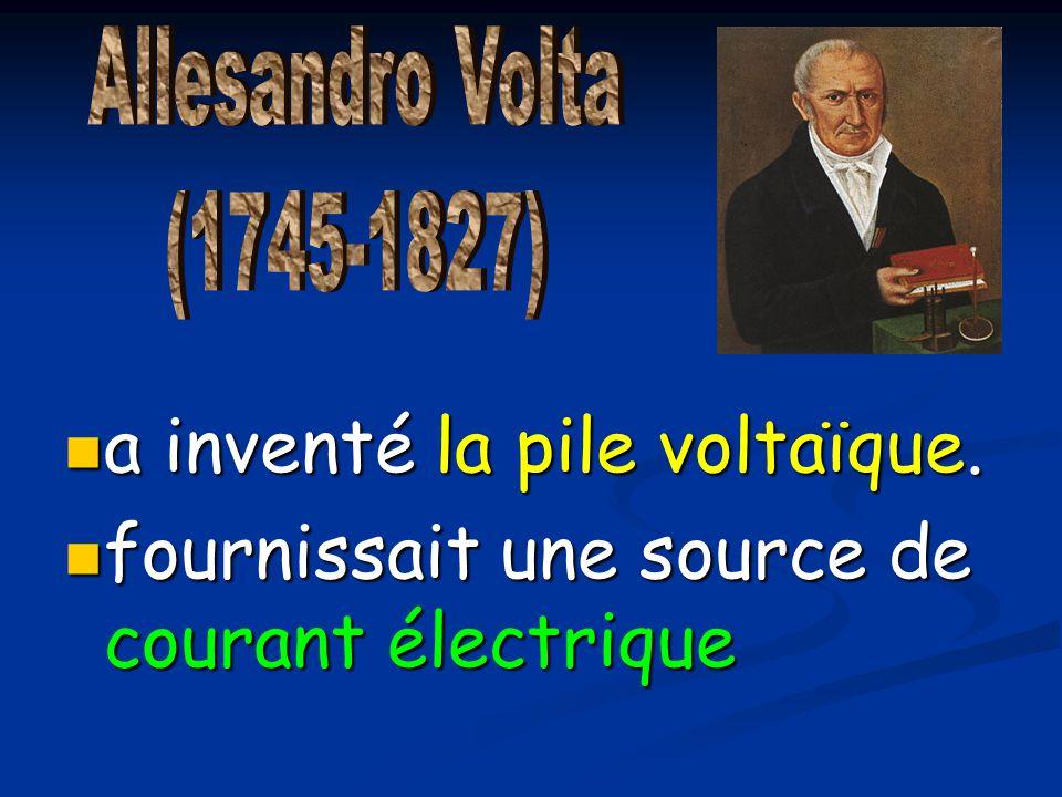 a inventé la pile voltaïque.