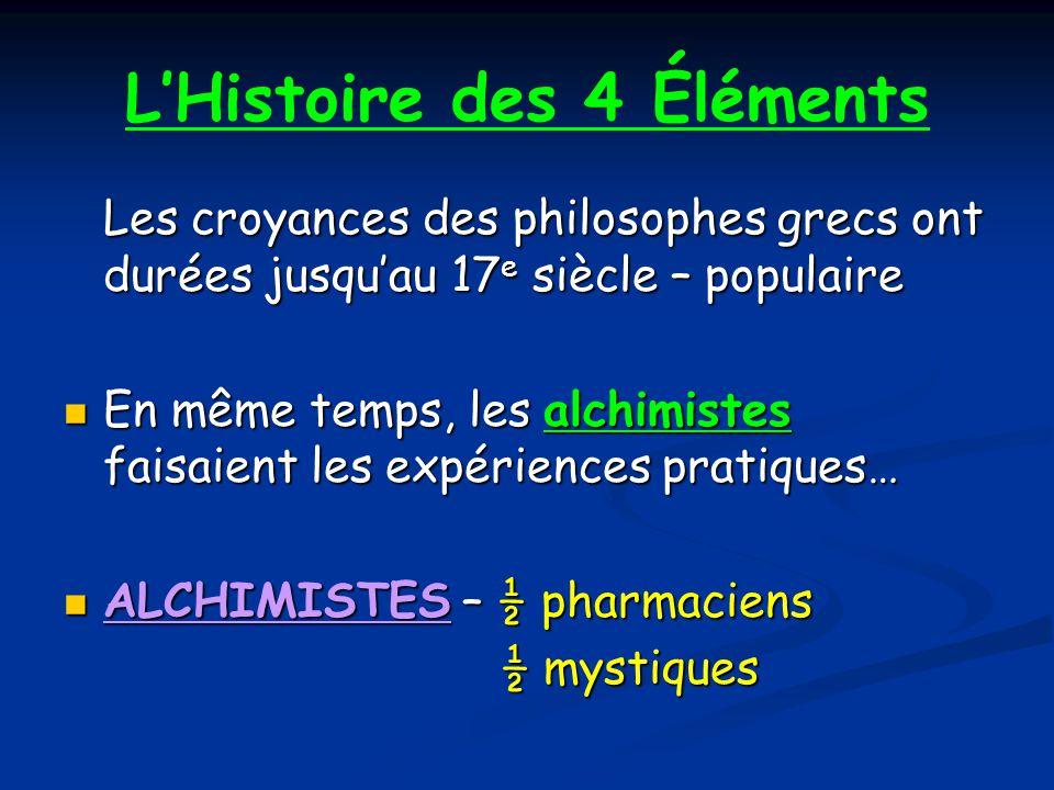 L'Histoire des 4 Éléments