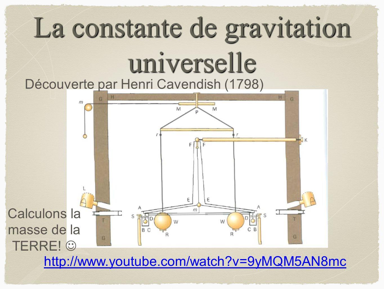 La constante de gravitation universelle