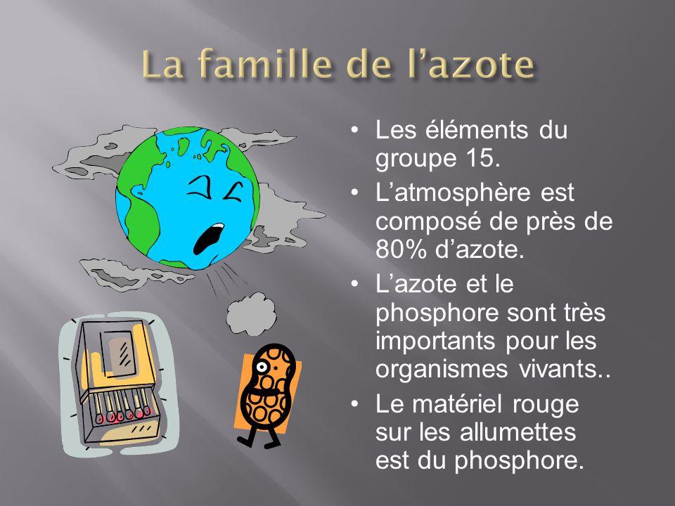 La famille de l'azote Les éléments du groupe 15.