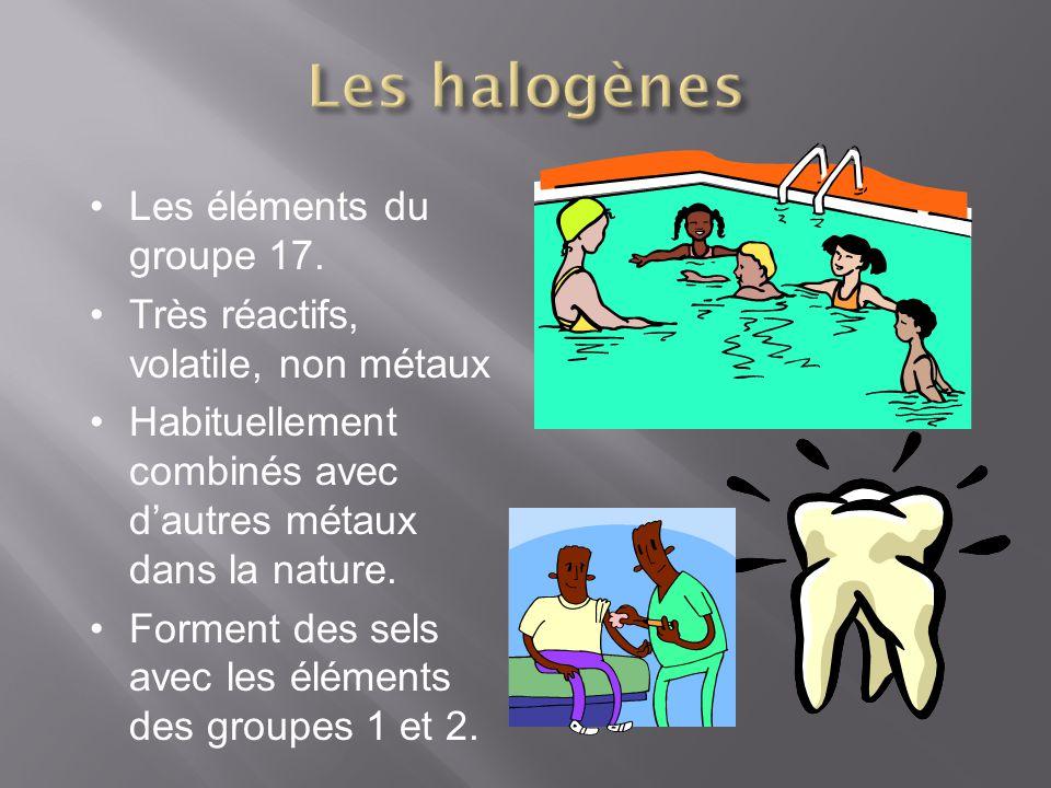 Les halogènes Les éléments du groupe 17.