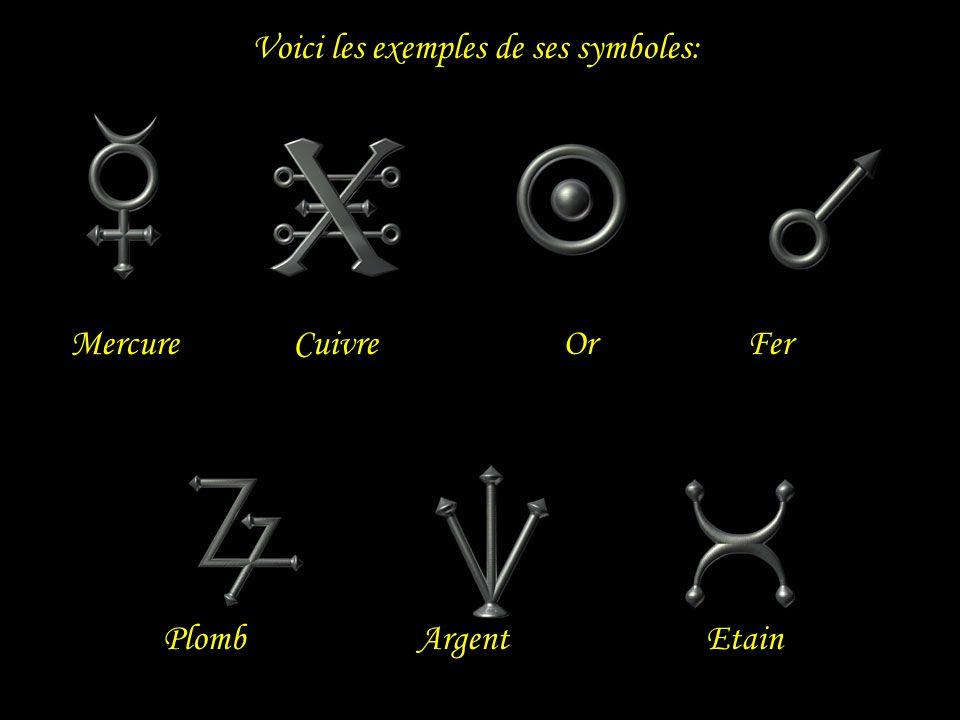 Voici les exemples de ses symboles: