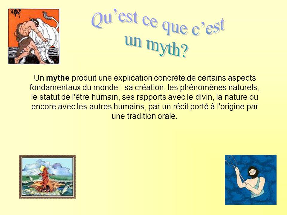 Qu'est ce que c'est un myth