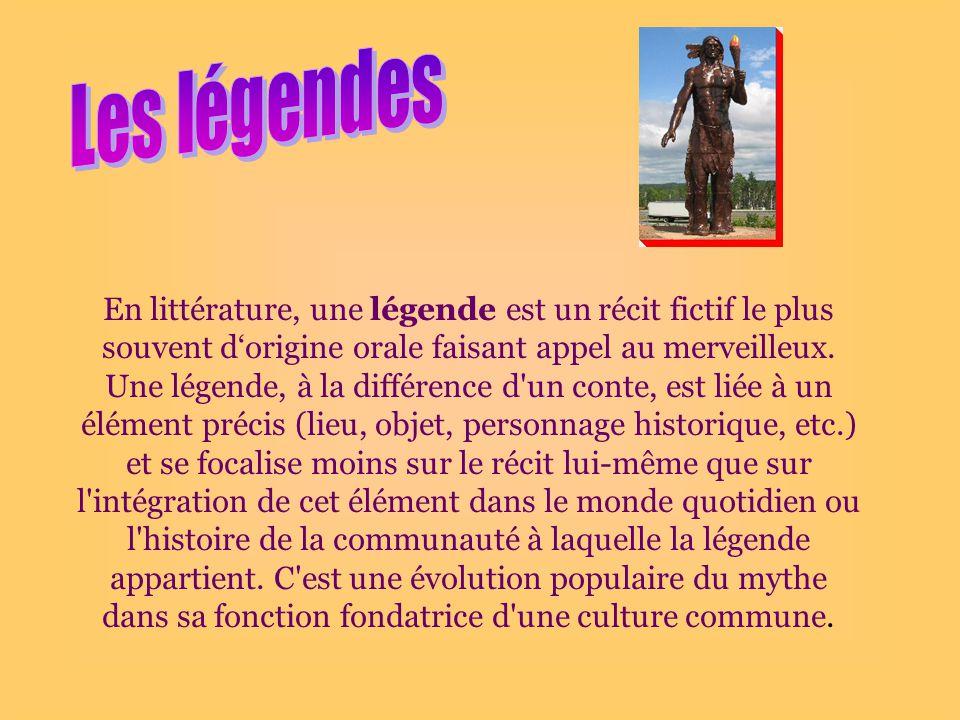 Les légendes