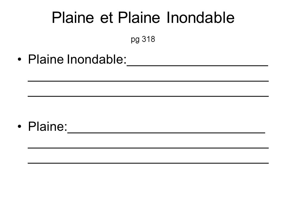 Plaine et Plaine Inondable pg 318