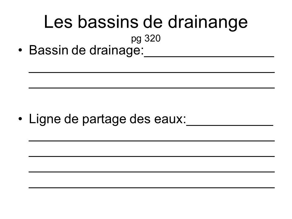 Les bassins de drainange pg 320