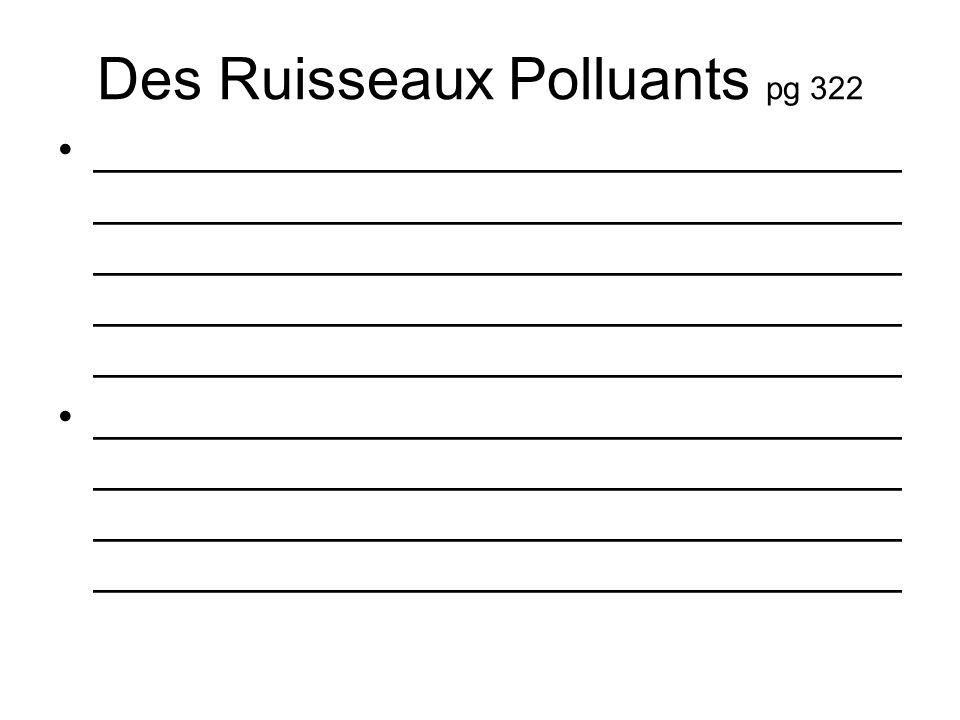 Des Ruisseaux Polluants pg 322