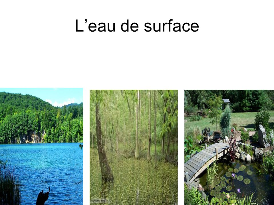 L'eau de surface