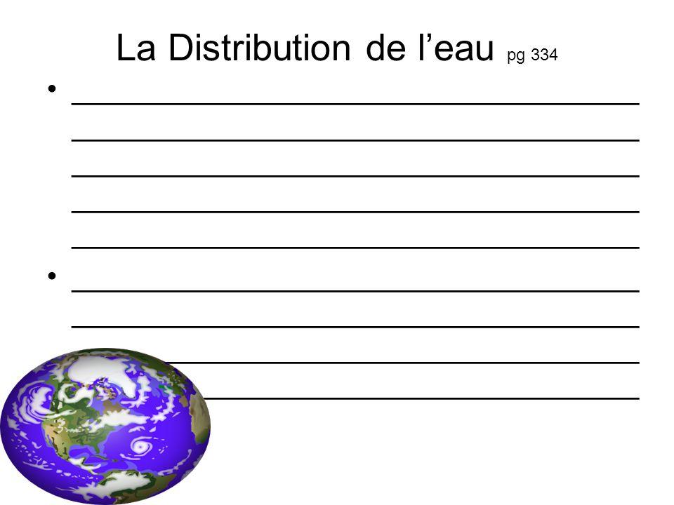 La Distribution de l'eau pg 334