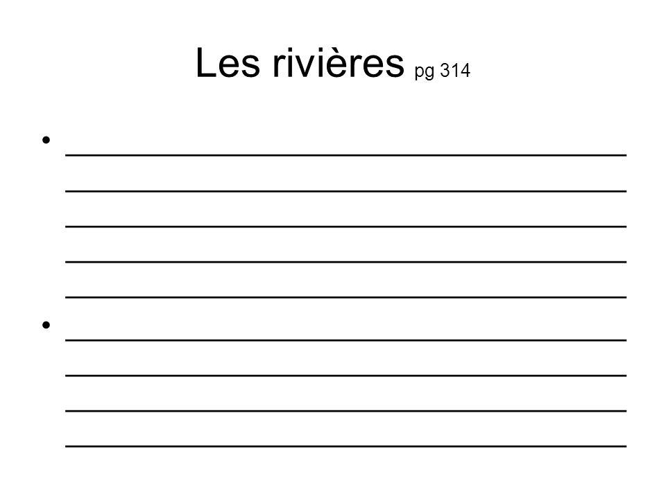 Les rivières pg 314