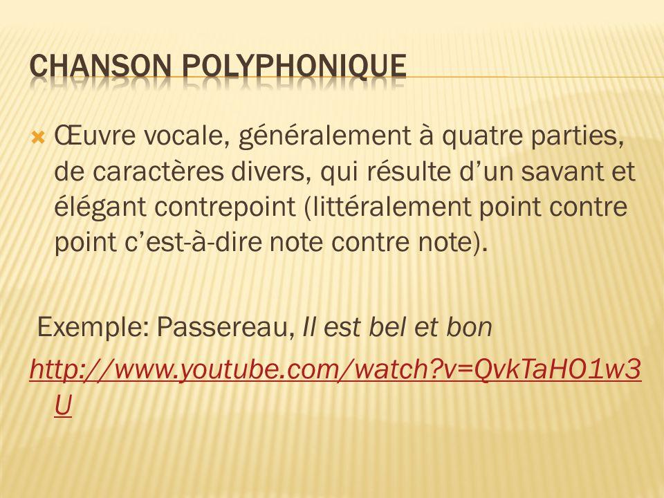 Chanson polyphonique