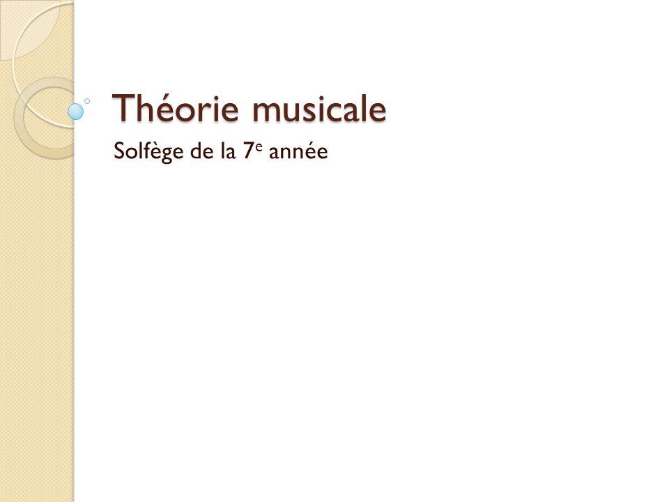 Théorie musicale Solfège de la 7e année