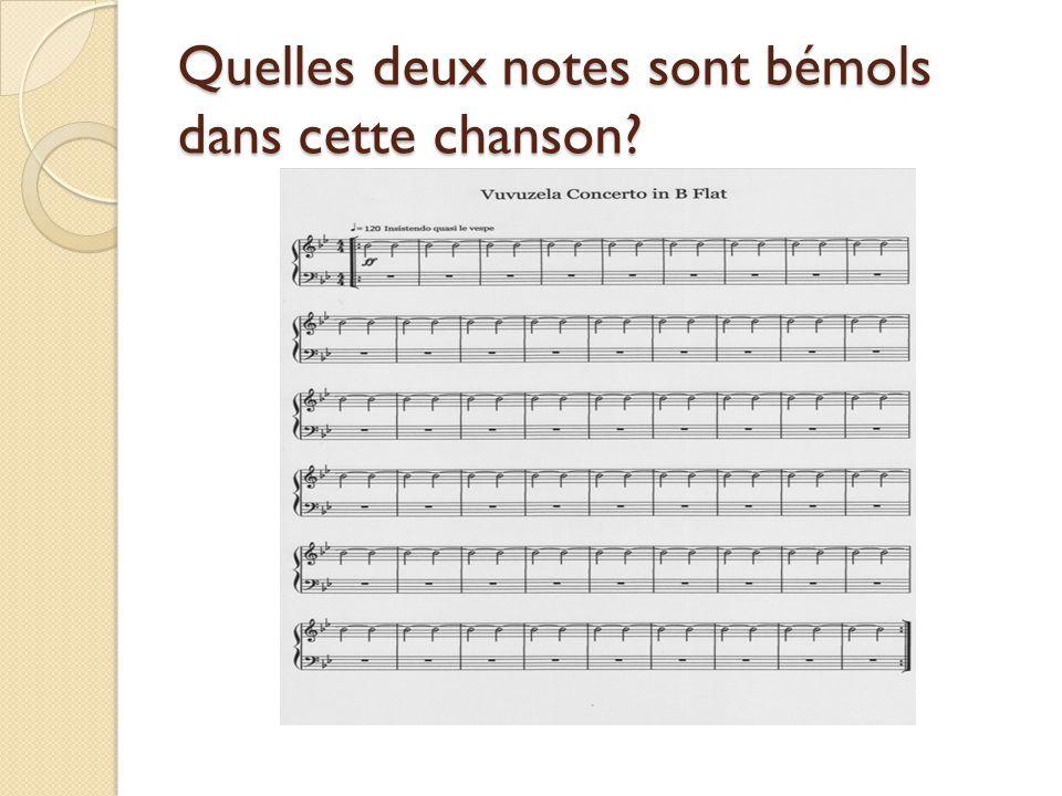 Quelles deux notes sont bémols dans cette chanson