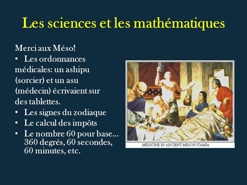 Les sciences et les mathématiques