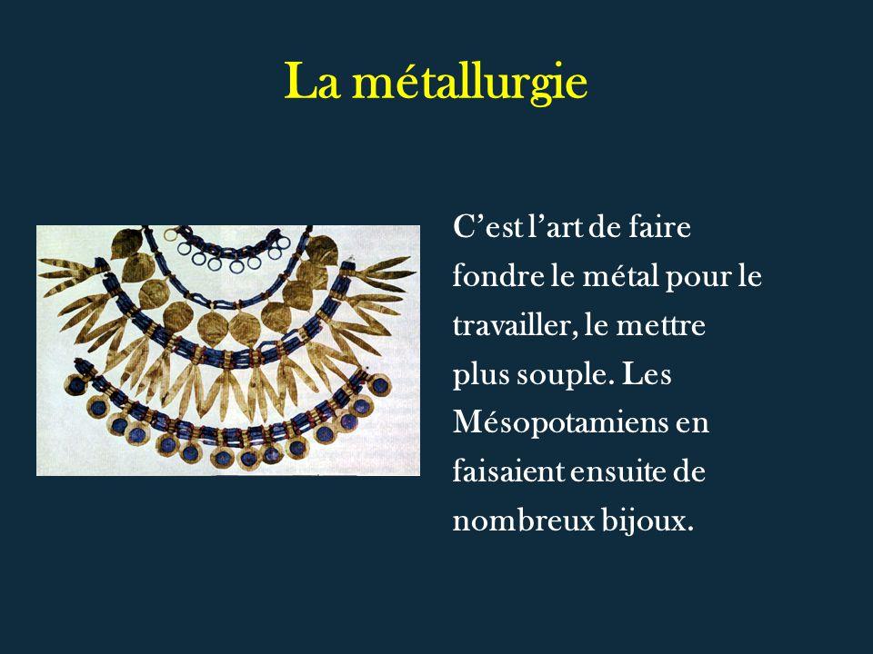 La métallurgie