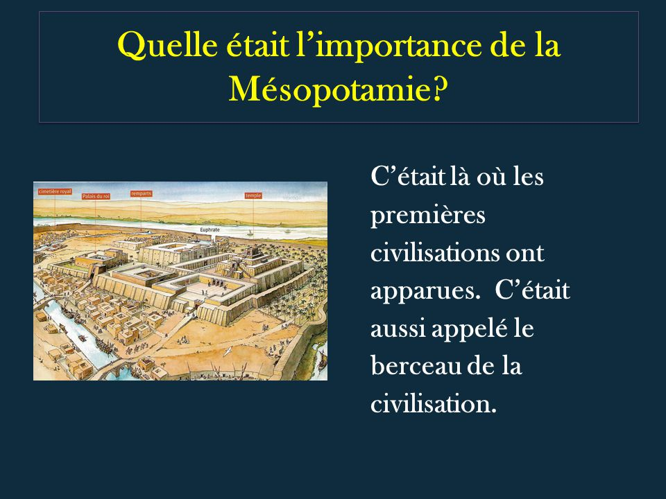 Quelle était l'importance de la Mésopotamie
