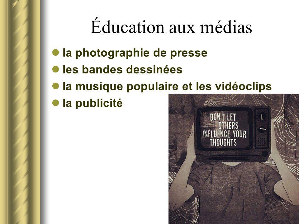 Éducation aux médias la photographie de presse les bandes dessinées