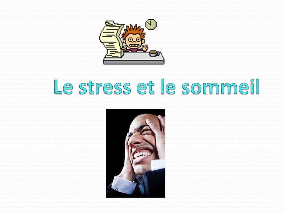 Le stress et le sommeil