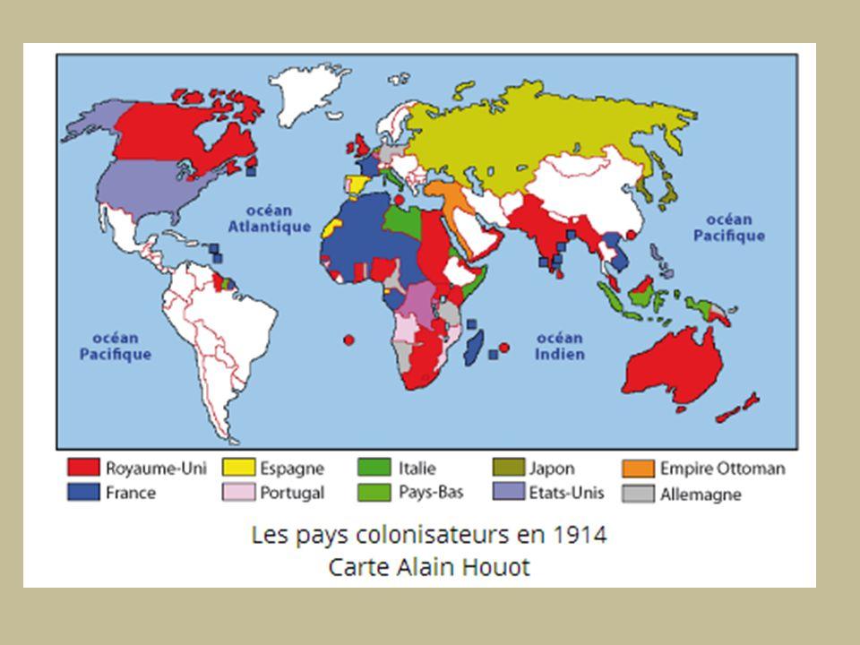 La période qui commence en 1881-1898, et qui va se poursuivre jusqu en 1914, est marquée par l expansion coloniale des grandes puissances européennes, qui va aboutir à une sorte «d européanisation» du monde. Après avoir achevé, durant la première moitié du XIX e siècle, de soumettre l Inde à sa domination, la Grande-Bretagne a pris possession de vastes territoires en Asie du Sud-est et dans le Pacifique. Cette expansion va se tourner désormais vers l Égypte, l Afrique australe et l Afrique orientale.