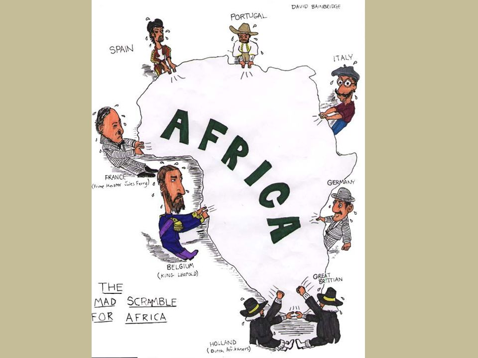 1. According to this cartoon, which European countries were fighting for a position in Africa