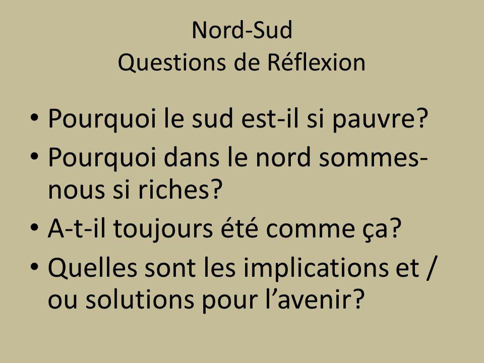 Nord-Sud Questions de Réflexion