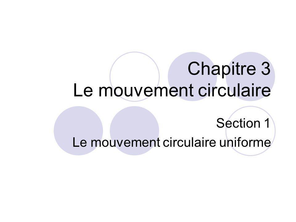 Chapitre 3 Le mouvement circulaire
