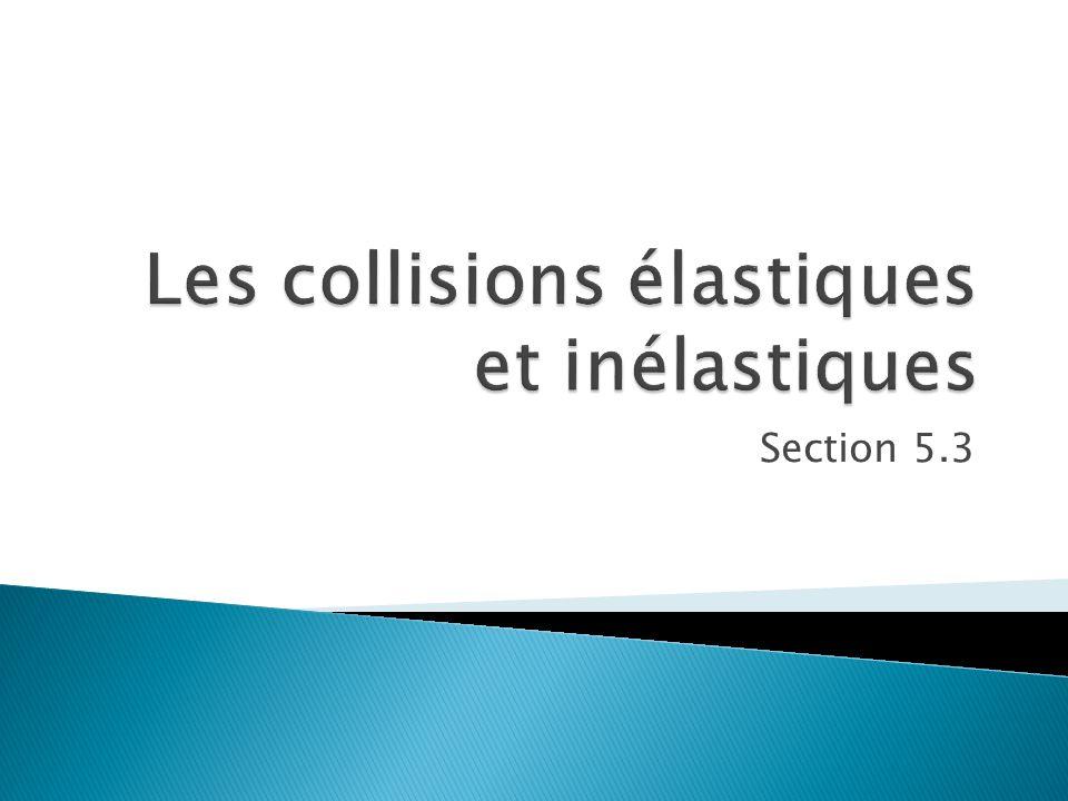 Les collisions élastiques et inélastiques