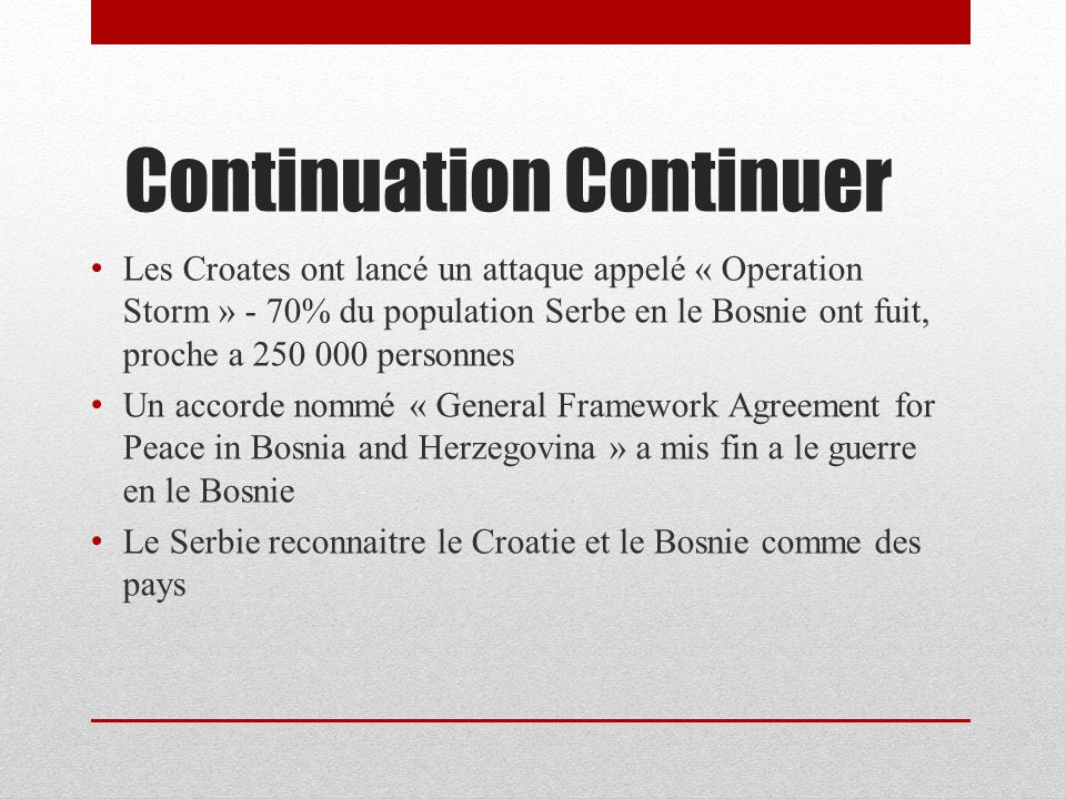 Continuation Continuer