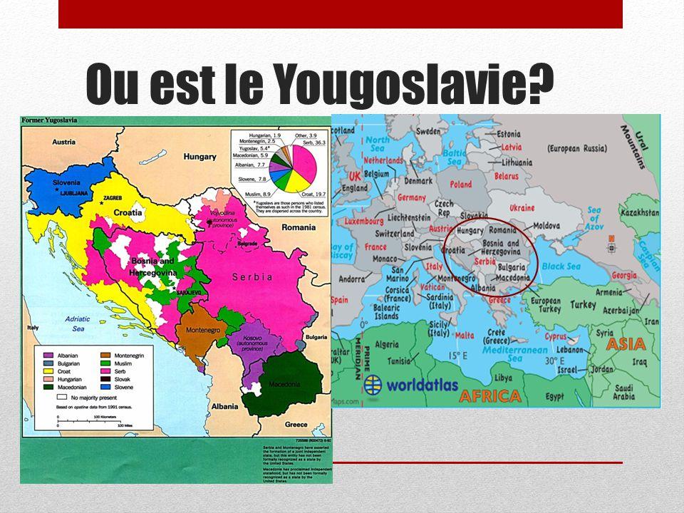 Ou est le Yougoslavie